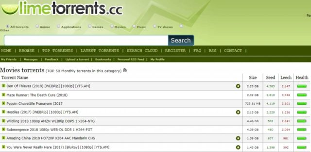 Site torrent Limetorrents