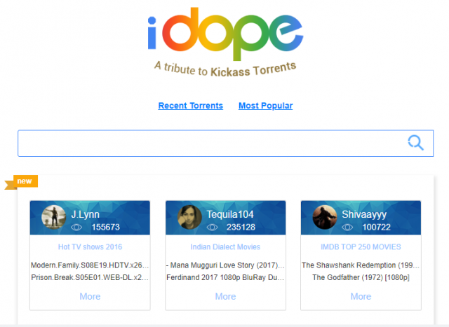 Site torrent iDope