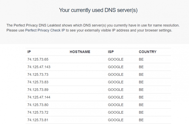 Anonymous VPN currently used DNS