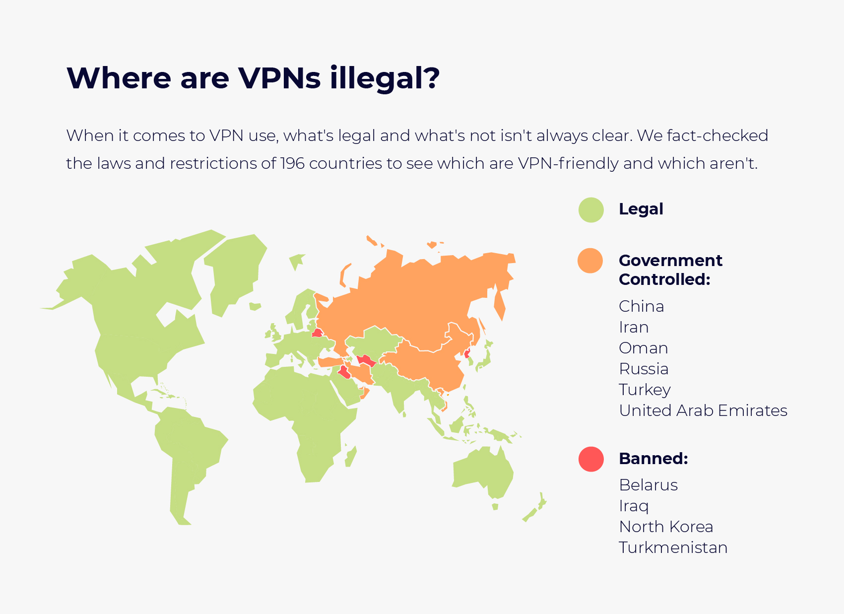 Is VPN legaal in uw land?