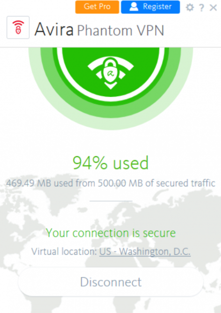 Avira Phantom VPN 유용성