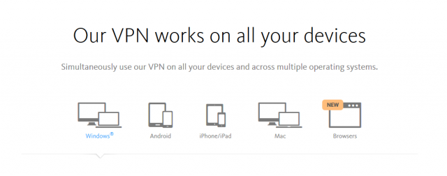 Avira Phantom VPN 지원 장치