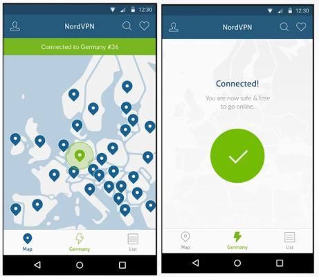 NordVPNs Android-app