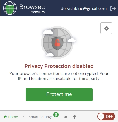 Interface BrowsecVPN
