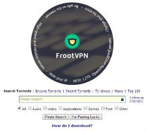 FrootVPN Pirate Bay