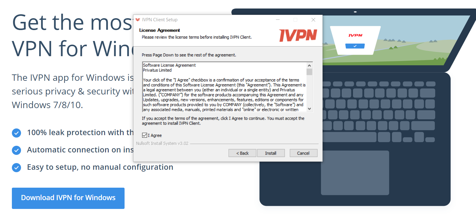 بارگیری IVPN Windows Client