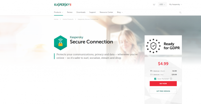 Évaluation de Kaspersky VPN