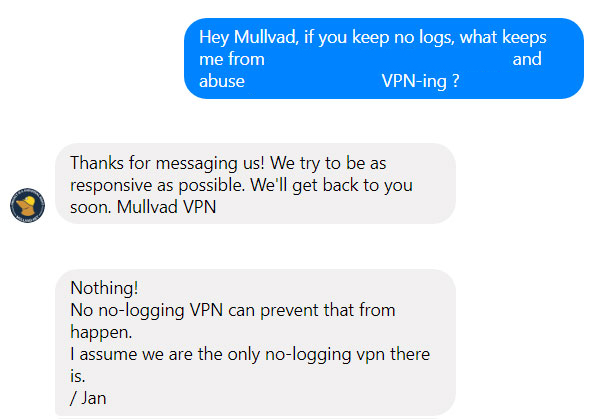 Mullvad Customer Support Facebook
