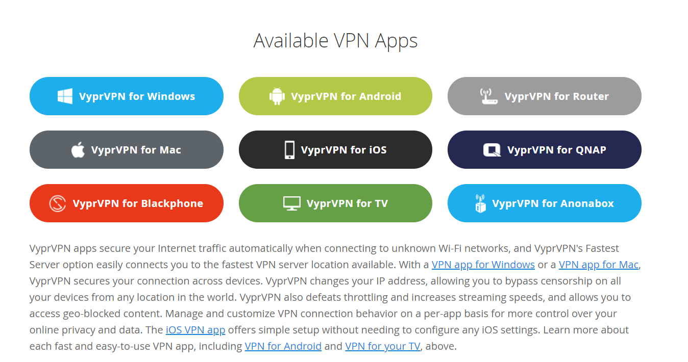 dispozitive VPN disponibile