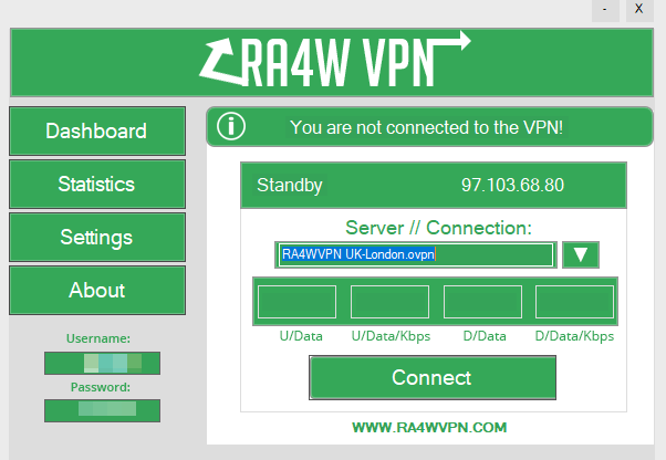 ra4w vpn programvare på windows